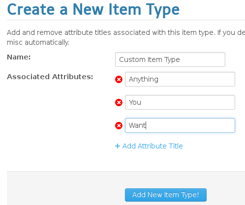Create a new Item Type