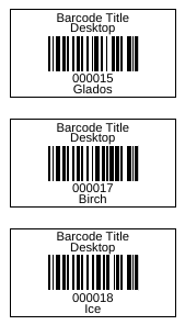 Generated Barcodes